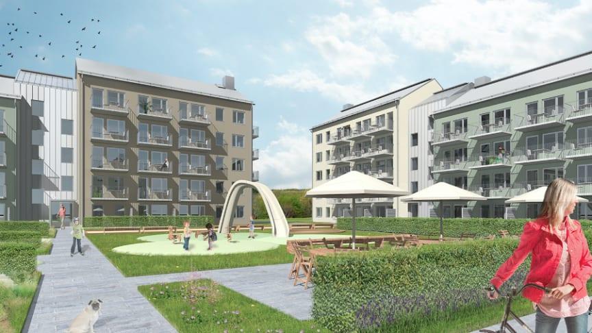 Pressinbjudan: Riksbyggen öppnar visningslägenheten i kv Kattugglan i Nyköping