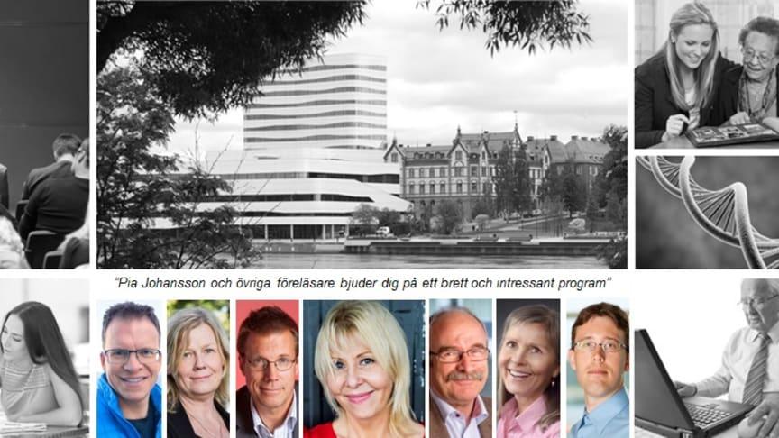 Pia Johansson är bara en av flera intressanta föreläsare under de nationella Släktforskardagarna som hålls i Umeå