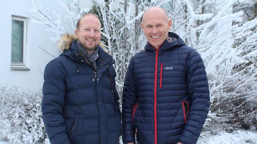 Daglir ledeer og eier Trond Olav Horten og konsernsjef Oddvar Haugen er svært fornøyd med å passerer 300-millionersgrensen på salg.