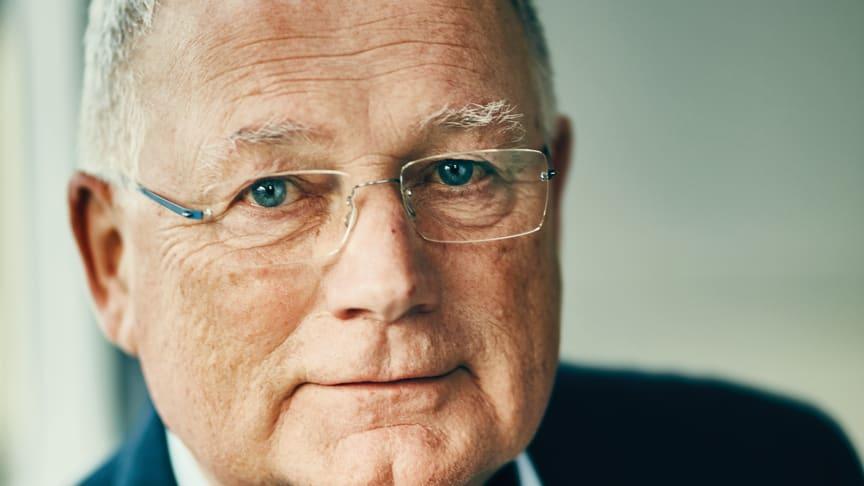 Hans Fog - administrerende direktør i Danmarks største, familieejede rengøringsvirksomhed Forenede Service fylder 70 år den 1. maj 2019. Foto: Martin Stampe.