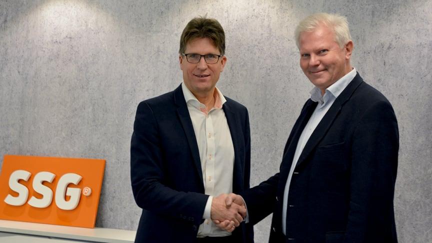 SSGs VD Mats Jakobsson tillsammans med Teknikutbildarnas VD Lennart Bölin.