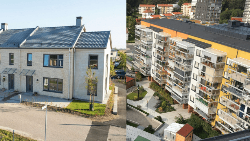 Två av Sveriges tio bästa bostadsprojekt! Brf Solkatten i Lund och Bonum Brf Rosenrot i Mölndal.