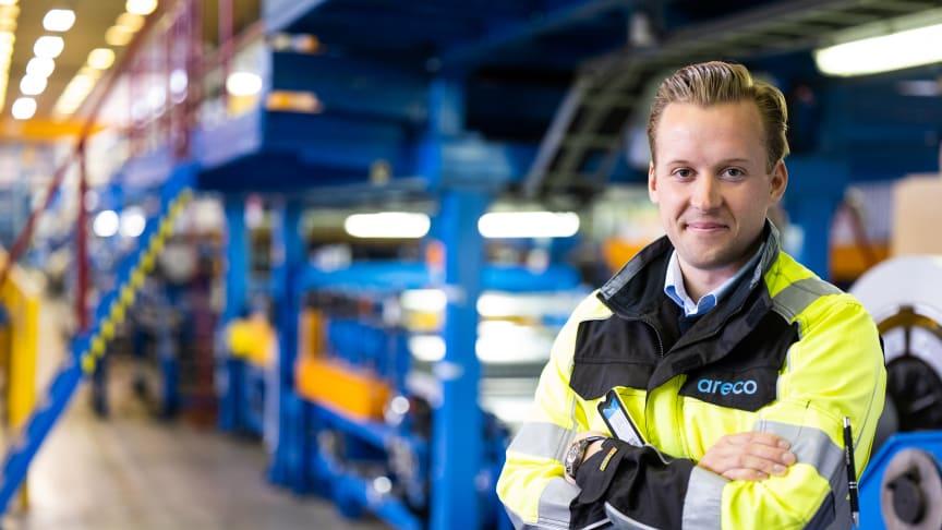 Areco Profiles fabrik i Finland återvinner allt
