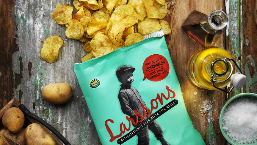 Triss i vinäger gav den perfekta smaken på nya Larssons chips
