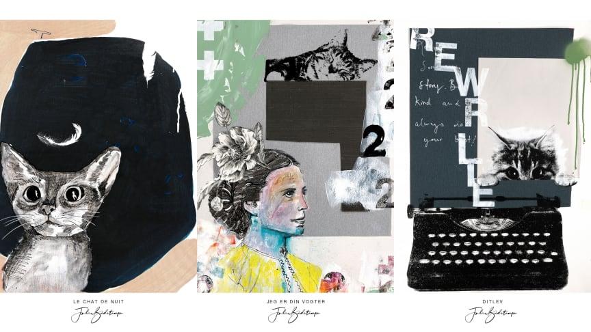 De tre flotte plakater kan bestilles på www.kattens-vaern-butik.dk