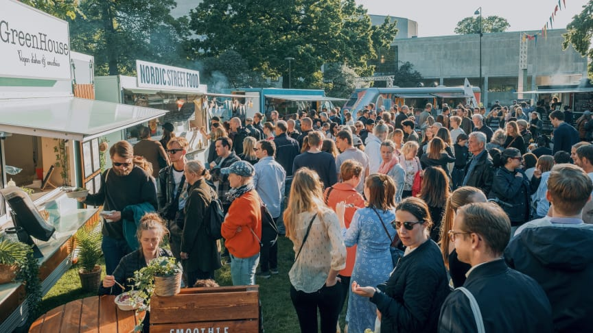 Bild från Malmö Food Truck Festival som arrangerades under sommaren. Foto: Pierre Ekman