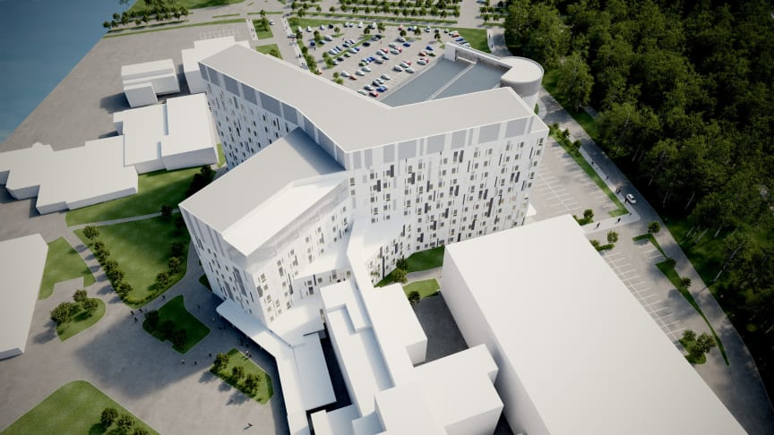 Visualisointikuva H-rakennus, Bothnia High 5 -allianssin kuvapankki