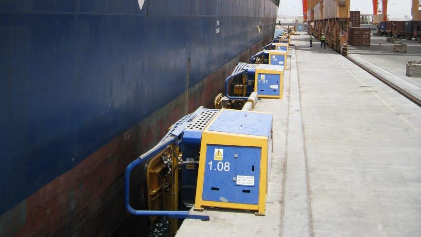 Image (3) of Cavotec MoorMaster™ MM200C units at the Port of Salalah, Oman