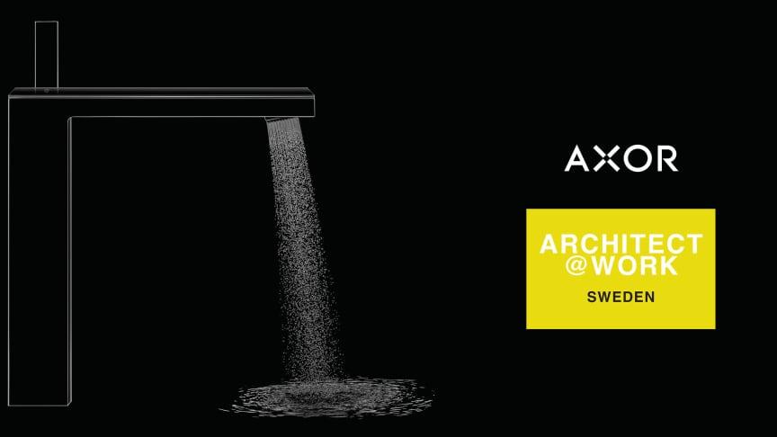 Helt nya AXOR designprodukter till handfat och badkar presenteras på arkitektmässa.
