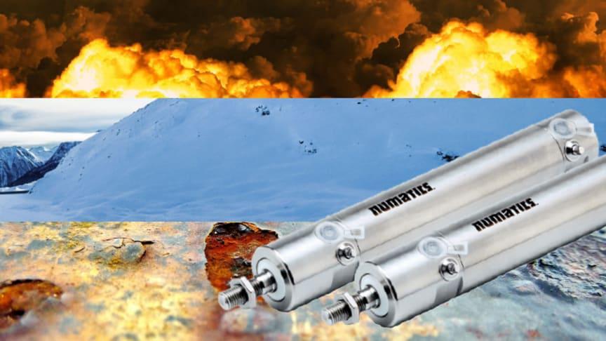 Pneumatikkomponenter för extrema förhållanden
