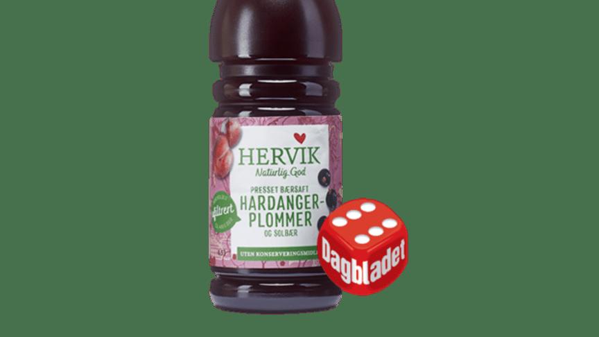 Terningkast 6 til Hervik sin bærsaft med  Hardangerplommer og solbær