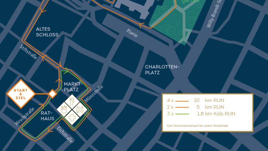Der SportScheck RUN Stuttgart startet 2020 zwischen Rathaus und Marktplatz.