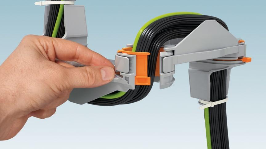 Kabelguidningssystemet CGS från Phoenix Contact.