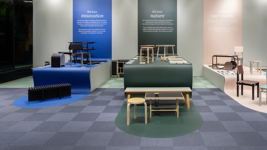 Forbos monter på Stockholm Furniture Fair 2020