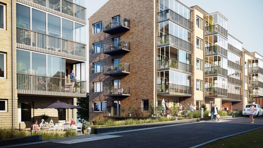Säljstart för 79 seniorbostäder i Riksbyggens Bonum Brf Guldmyntet i Göteborg