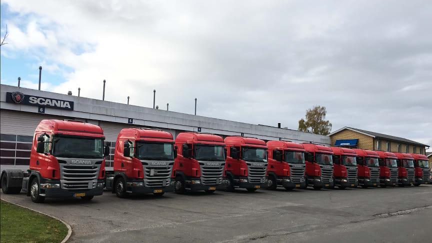 11 ens Scania G 400 fra Scania Brugtbilcenter til Cirkus Arena. Alle leveret med serviceaftalen Classic 20+ og finansieret gennem Scania Finans.