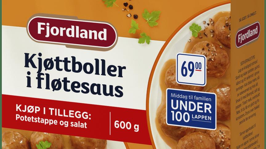 Fjordland komponenter Kjøttboller i fløtesaus