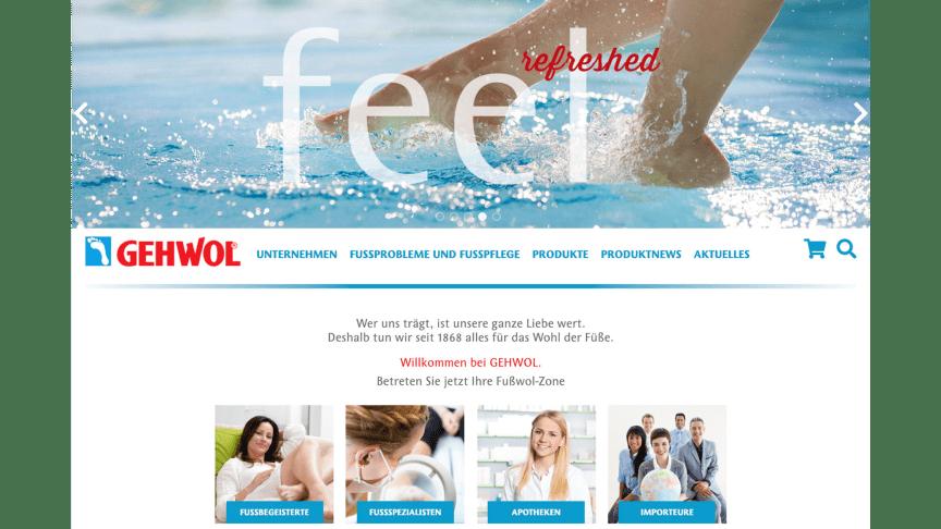Informationen für Fußprofis, Apothekenfachpersonal und Endverbraucher unter gehwol.de