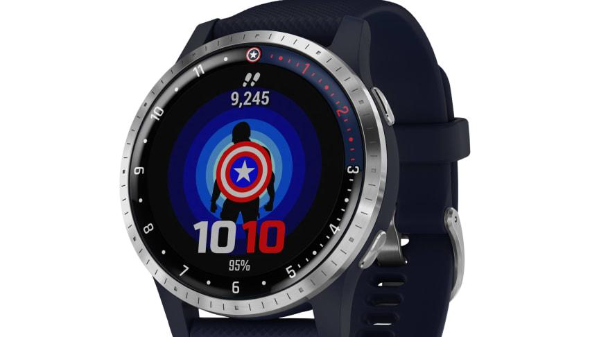 Garmin presenterar Legacy Hero Serien, med Marvel-tema i smartwatches Inspirerade av Captain Marvel och Captain America: The First Avenger