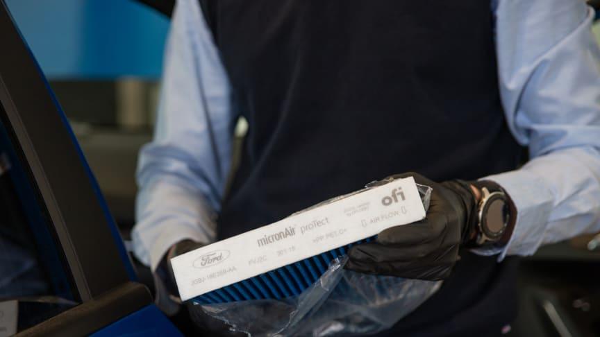 Filtr Ford micronAir proTect poskytuje nejlepší možnou ochranu proti virům