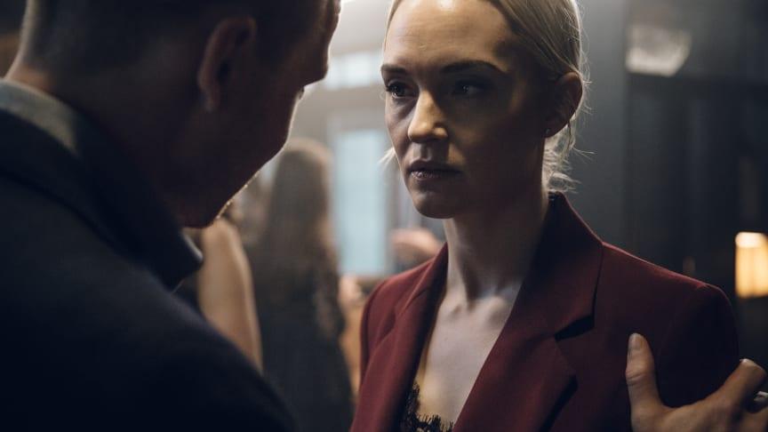 Sofia Pekkari i rollen som Lia i den nye Viaplay-thrilleren Cold Courage. FOTO: Viaplay
