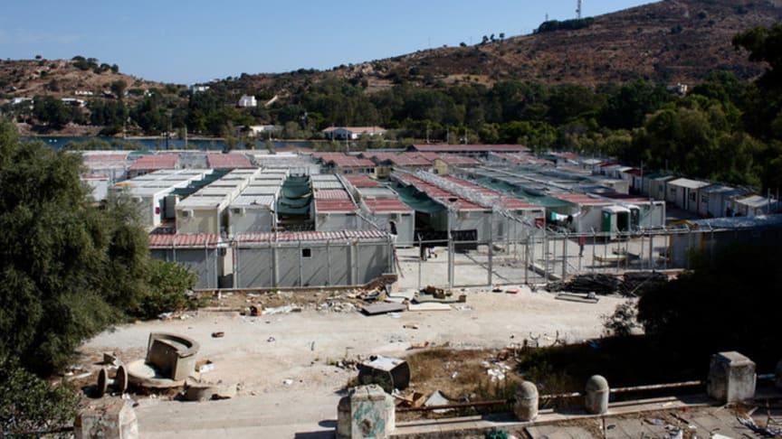 Flyktingläger på den grekiska ön Leros. Foto: Rädda Barnen