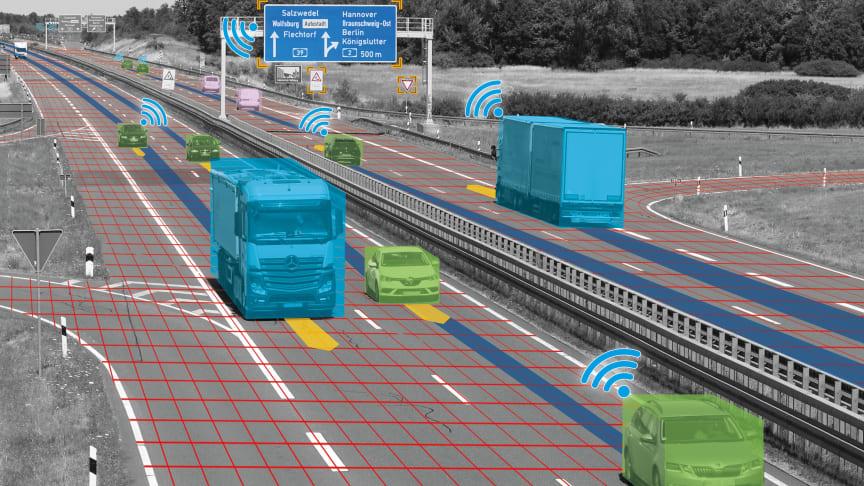 Die von STRABAG auf der A39 aufgebaute Verkehrserkennungstechnik ermöglicht die Mobilitätsforschung für den Personenverkehr von morgen. copyright: DLR