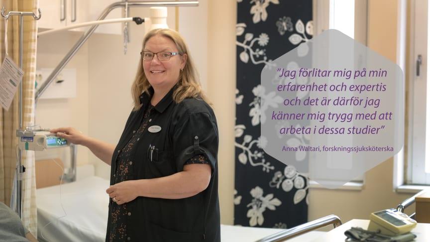 Anna Waltari har 15 års erfarenhet av att jobba med intensivvård.