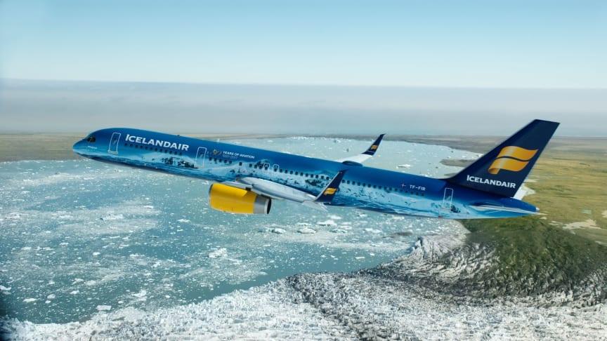 """Icelandair, flyet """"Vatnajökull"""" og 80 års fødselsdagen."""