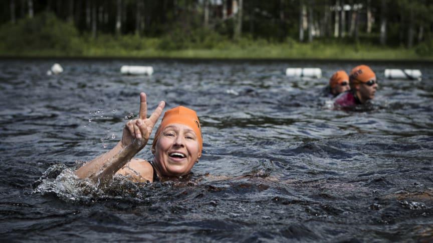 Deltagare i Vansbro Halvsim 2019. Foto: Mickan Palmqvist