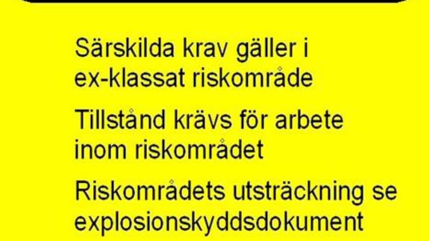 ATEX Varningsskylt