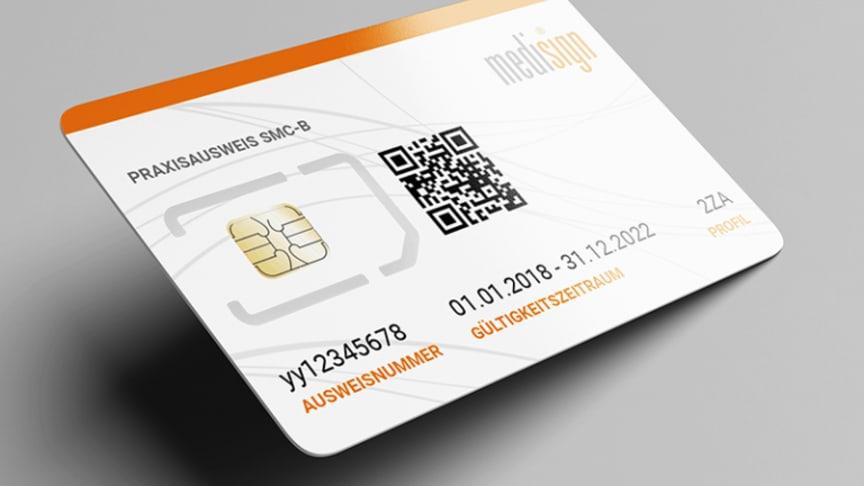 Bild: Elektronischer Praxisausweis, medisign SMC-B