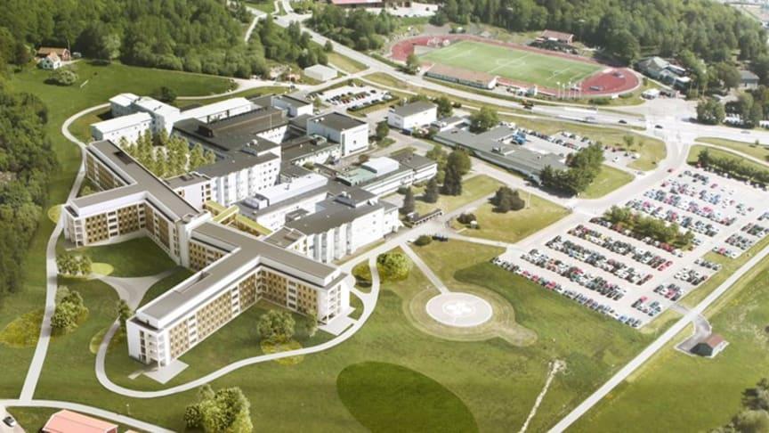 INUstyr ansvarar för fastighetsautomationen på Kungälvs nya sjukhus