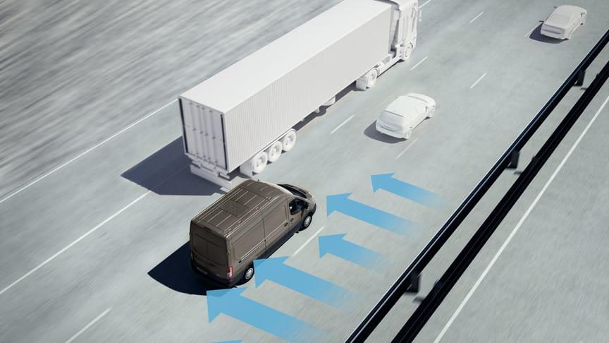 Side Wind Stabilisation er en avanceret teknologi, som er udviklet af Fords ingeniører for at kunne hjælpe føreren mest muligt. Ford har monteret sensorer, der måler vindens hastighed 100 gange i sekundet.