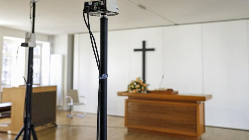 Vorbereitung für einen Videogottesdienst der Neuapostolischen Kirche