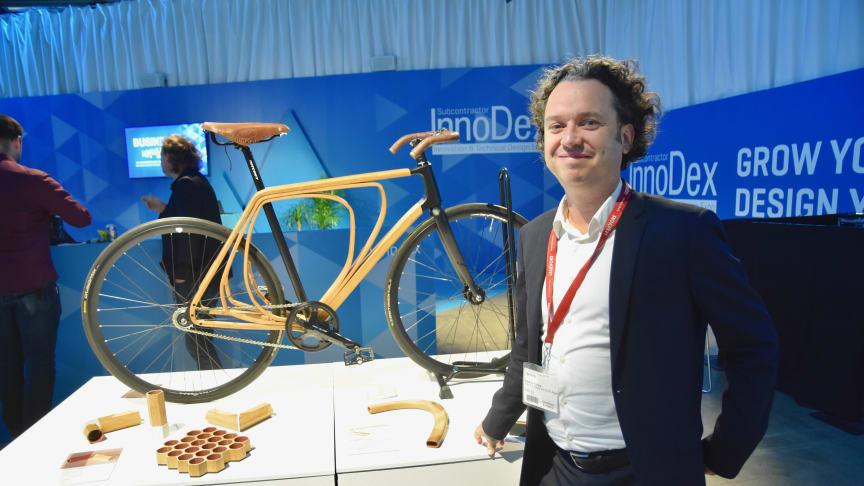 Materialgurun Dr Sascha Peters från Haute Innovation, Berlin, medverkar på Elmia InnoDex för sjätte året i rad.