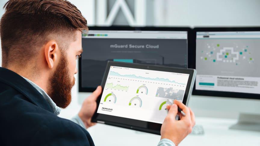 mGuard Secure Cloud: Molnbaserad fjärranslutning till nätverket med säker krypterad VPN-Tunnel