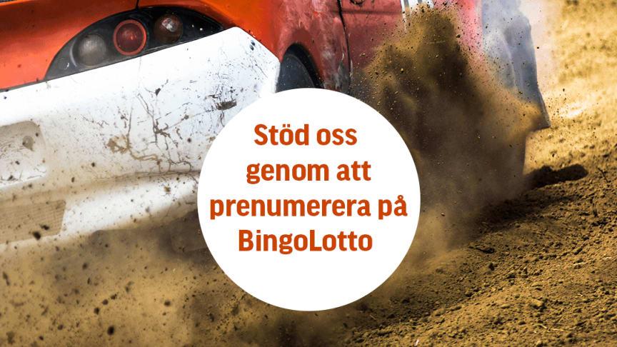 Vinn fina priser med Bingolotto och stöd samtidigt Svensk Bilsport