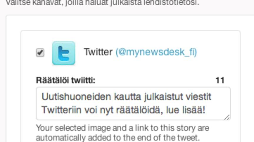 TEHOVINKKI: Lisää personoitu viesti Twitteriin