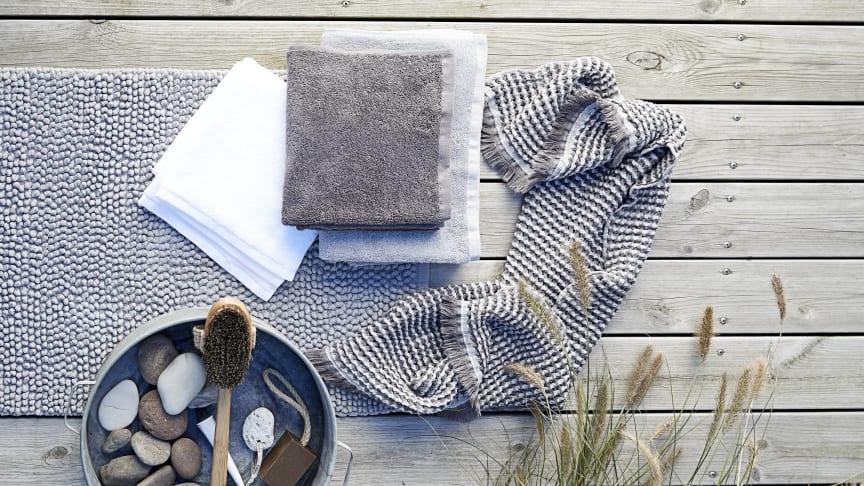 Scandinavian Sense kommer till butik 29 mars och består av hemtextilier i 100 procent ekologisk bomull.