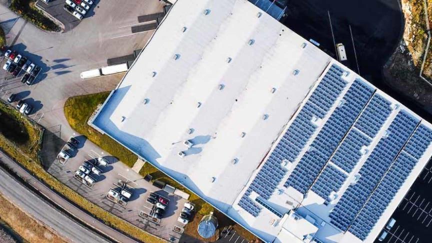 Vårt logistikcenter på Höganloft i Tranås, Sverige