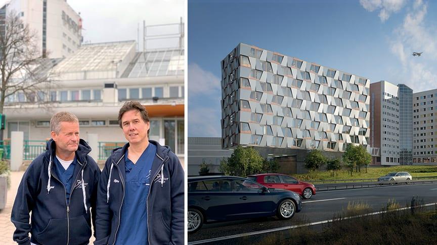 Jesper Zetterquist och Björn Strander, ägare av Din Doktor som öppnar i Scandinavian XPO under sommaren 2020.