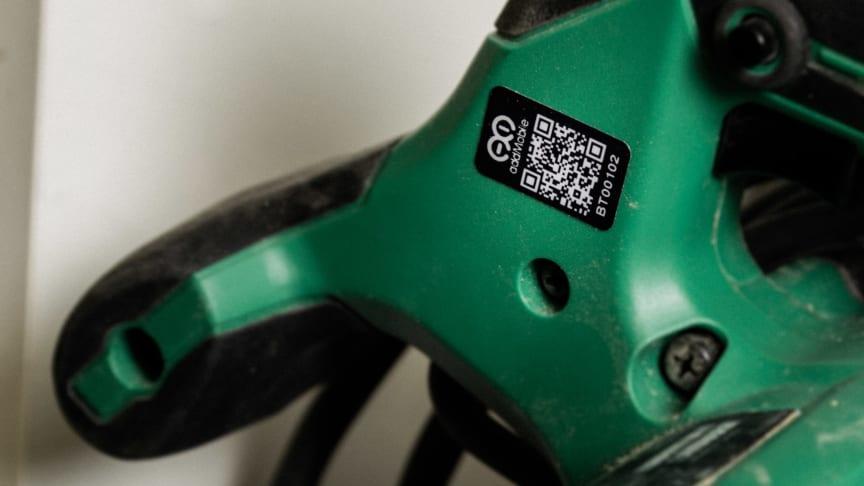 QR-koden ger verktygen ett unikt ID och snabbt överblick över era inventarier