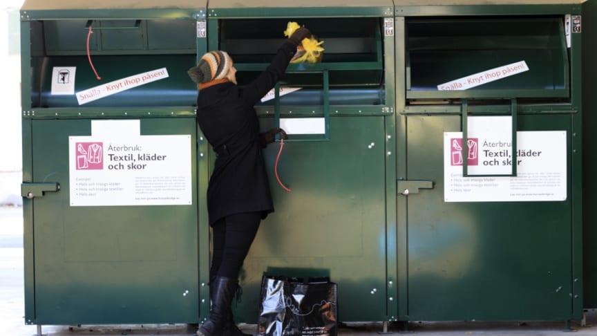 Myrorna och Lions gör uppehåll i sin insamling på Sysavs återvinningscentraler