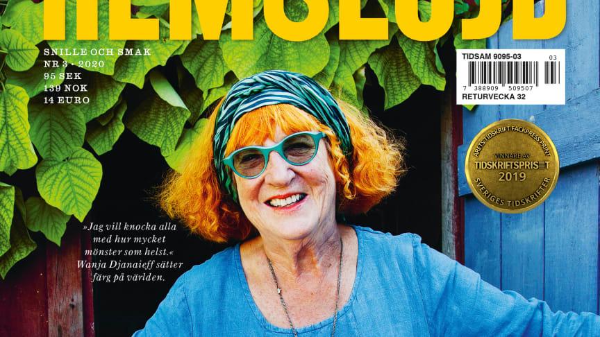 Wanja Djanaieff på omslaget till HEmslöjd 3/2020 med tema Inspiration. Omslagsfoto: Lena Katarina Johansson.