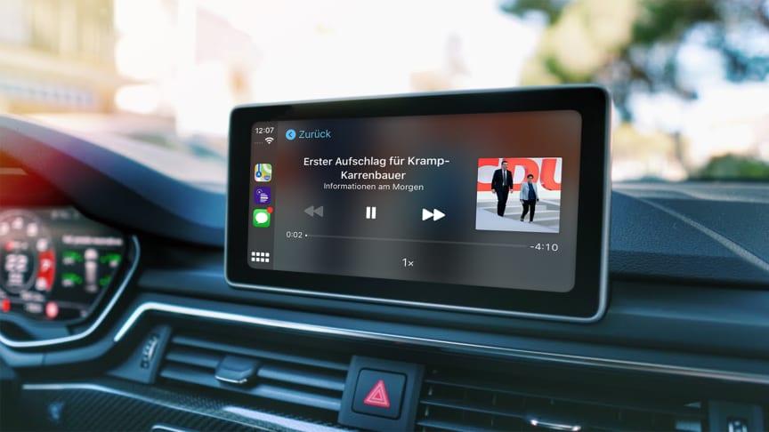 Von Appsfactory realisierte Audiothek-App des Deutschlandfunks für Apple CarPlay und Android Auto verfügbar