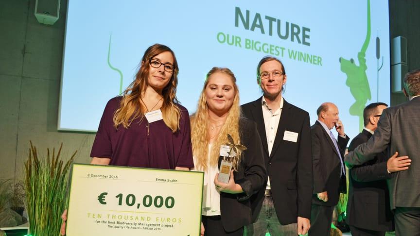 Studentgrupp från Cementa en av de globala vinnarna i tävling kring biologisk mångfald i byggmaterialindustrin