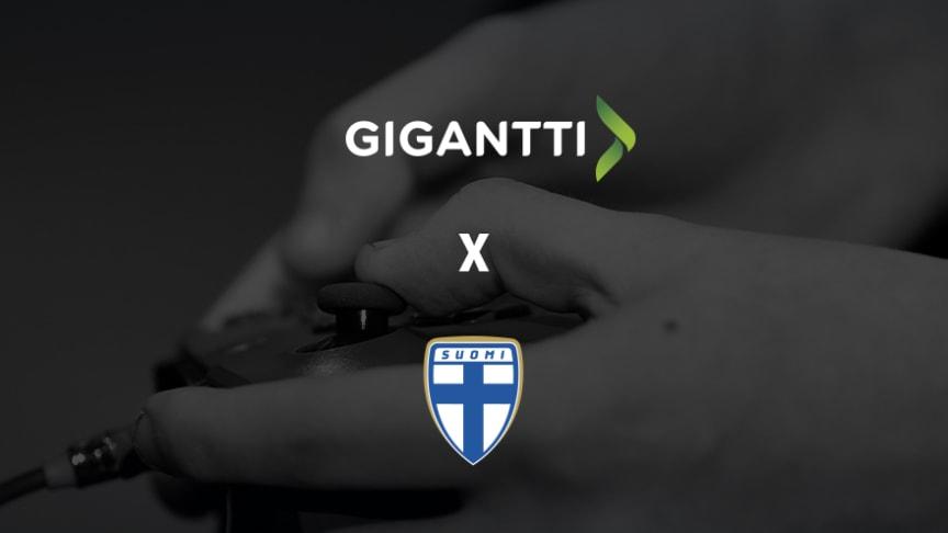 Gigantti ja Suomen Palloliitto yhdistävät voimansa e-jalkapalloilun kehittämiseksi.