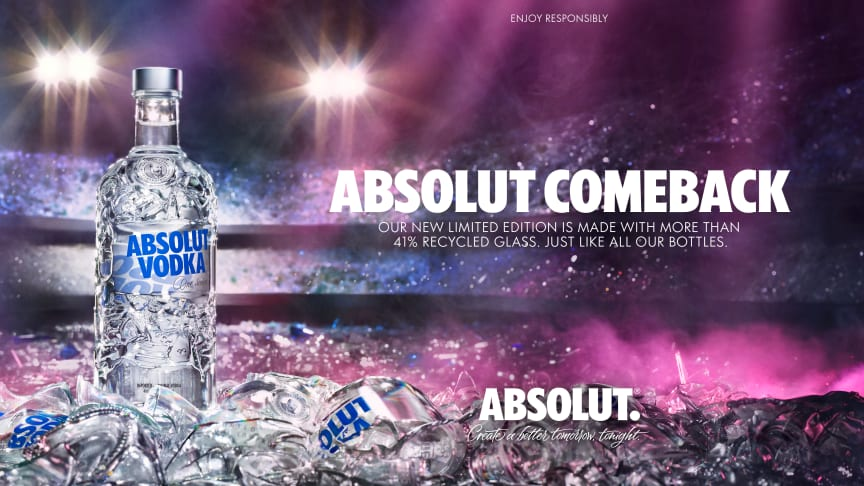 Absolut launches a new limited edition bottle celebrating recycling