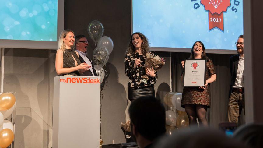 Lyckad kväll när företag prisades i Digital PR Awards